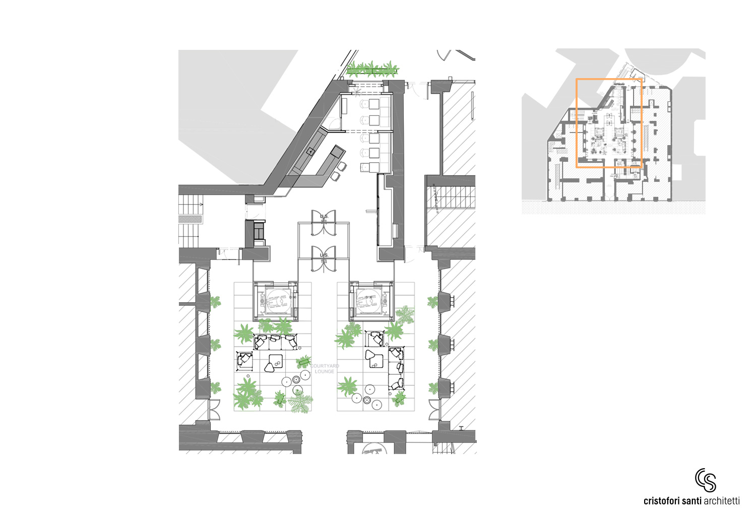 PIANO TERRA CAPUTO PARTNERSHIP INTERNATIONAL + CRISTOFORI SANTI ARCHITETTI ASSOCIATI}