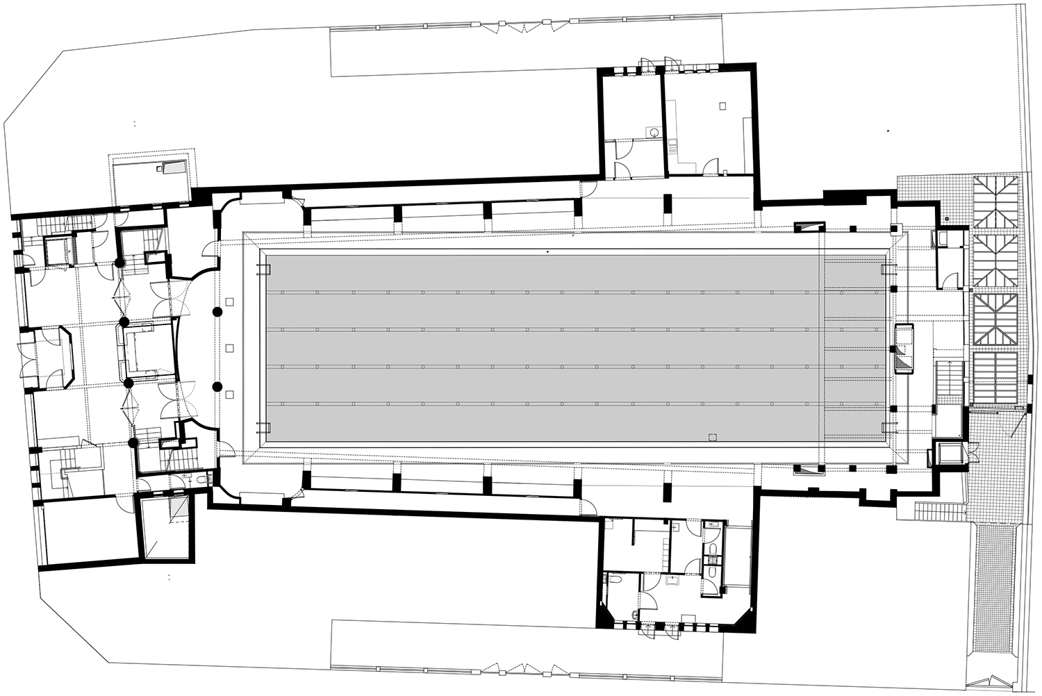 Floor plan of the renovation project © Chatillon Architectes}