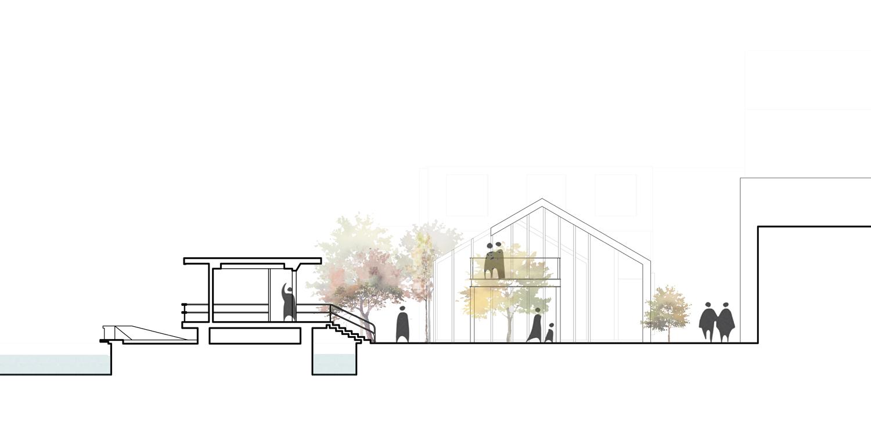 Chong'er Pavilion section Lacime Architects}