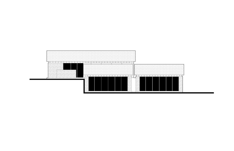 elevation of guestroom A gad · line+ studio}