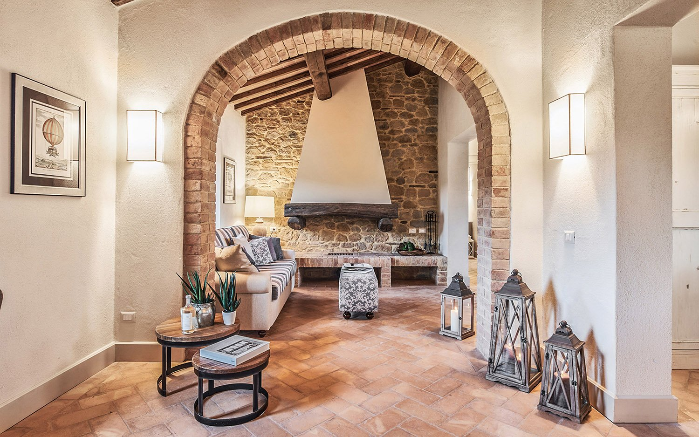 Vista zona giorno Appartamento B Piano primo @Toscana Resort Castelfalfi