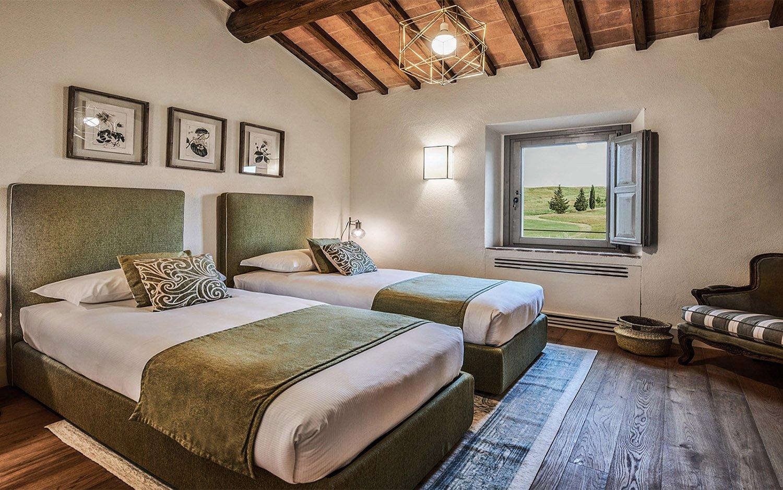 Vista camera  verde Appartamento B Piano primo @Toscana Resort Castelfalfi