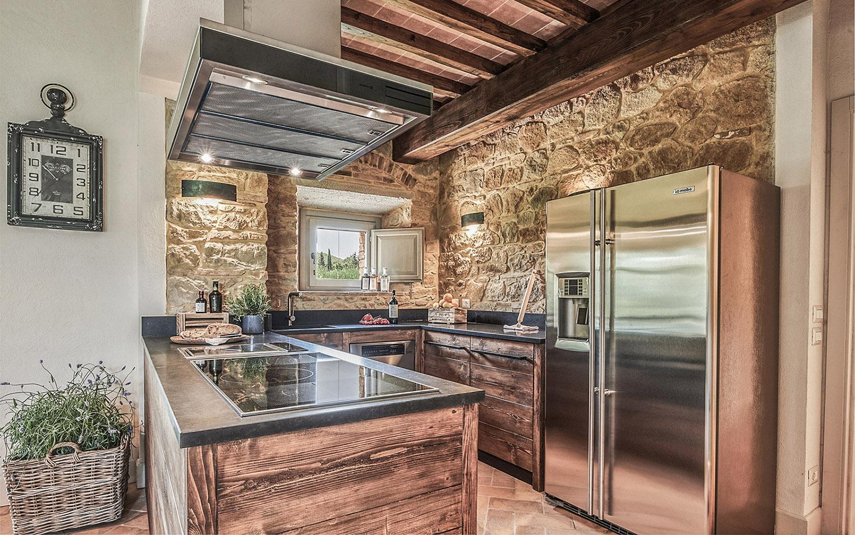 Vista cucina Appartamento C Annesso @Toscana Resort Castelfalfi