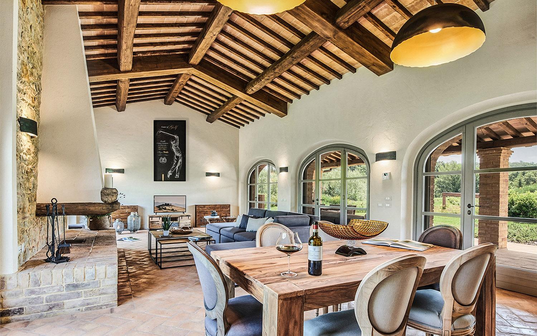 Vista soggiorno Appartamento C Annesso @Toscana Resort Castelfalfi