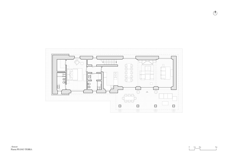Pianta Annesso Appartamento C_Piano terra @Arch. Alessandra Cipriani}