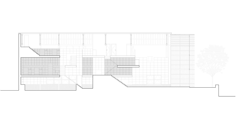 Transversal section Atelier tao+c}