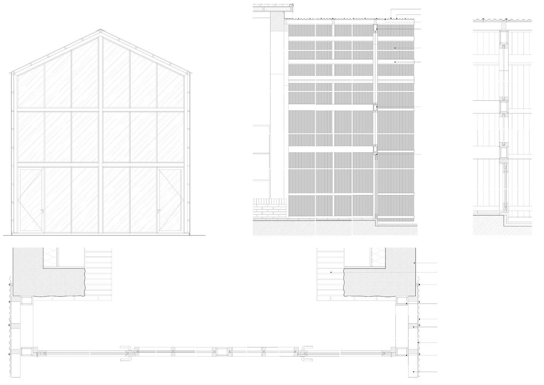 Corrugated polycarbonate detail Atelier tao+c}