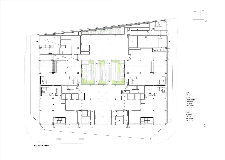 Ground floor Axel Schoenert architectes}