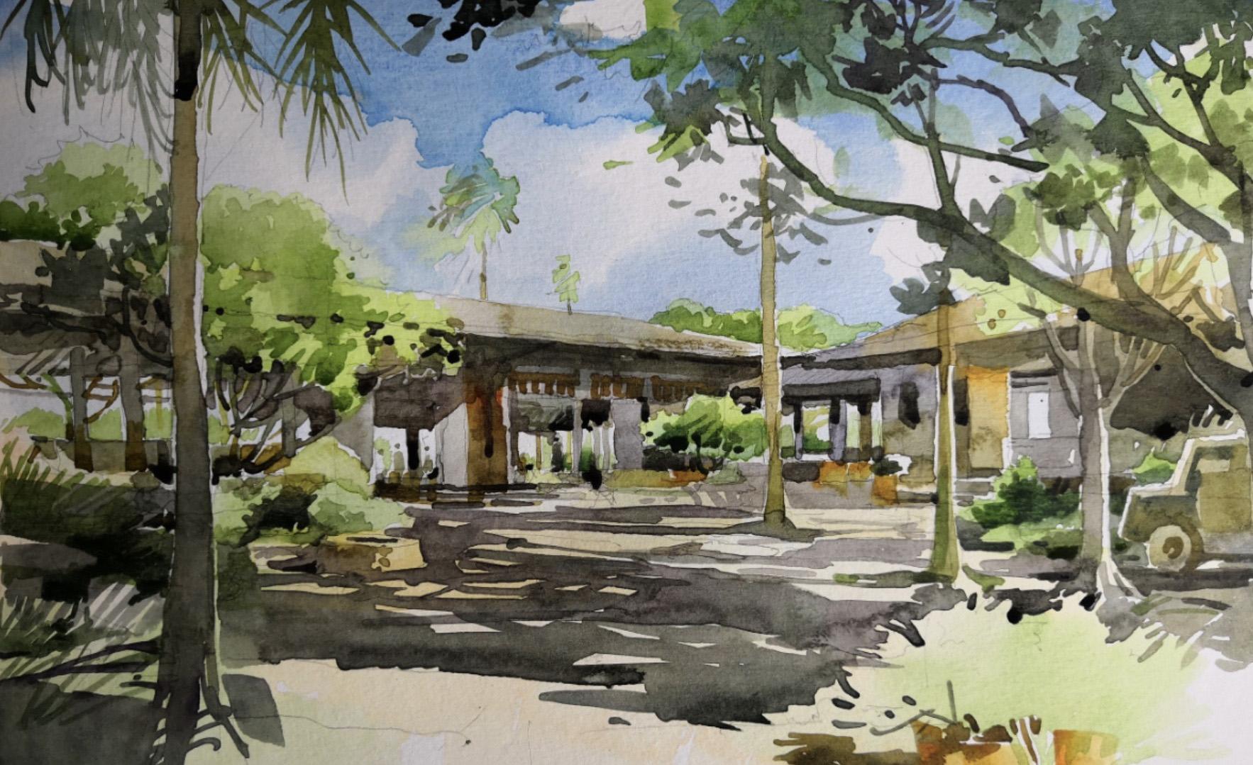 watercolor sketch BIAD}