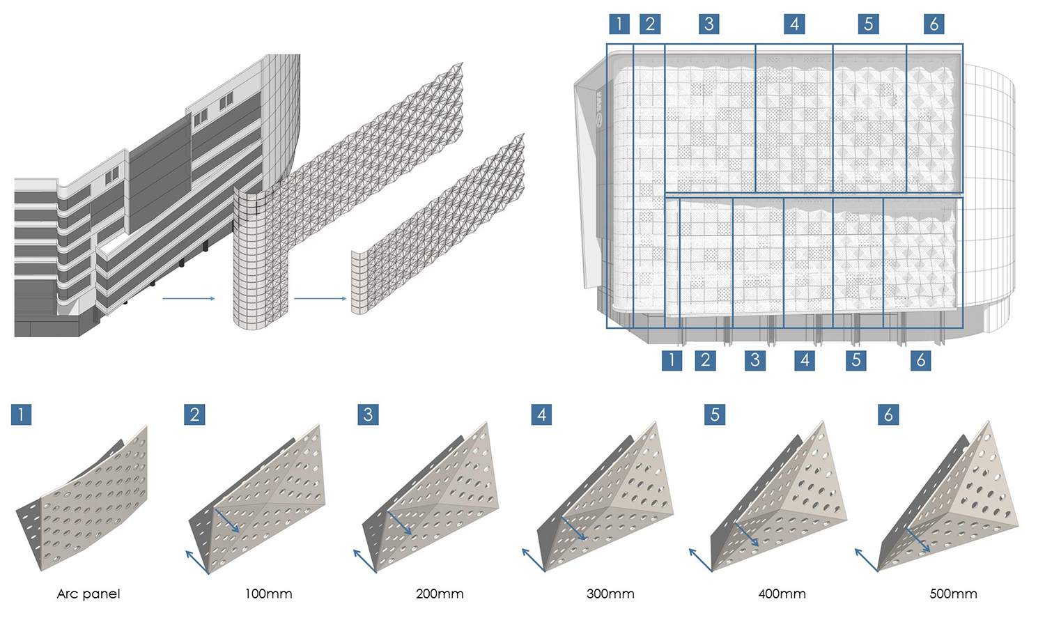 Exploded diagram of courtain wall Shanghai PTArchitects}