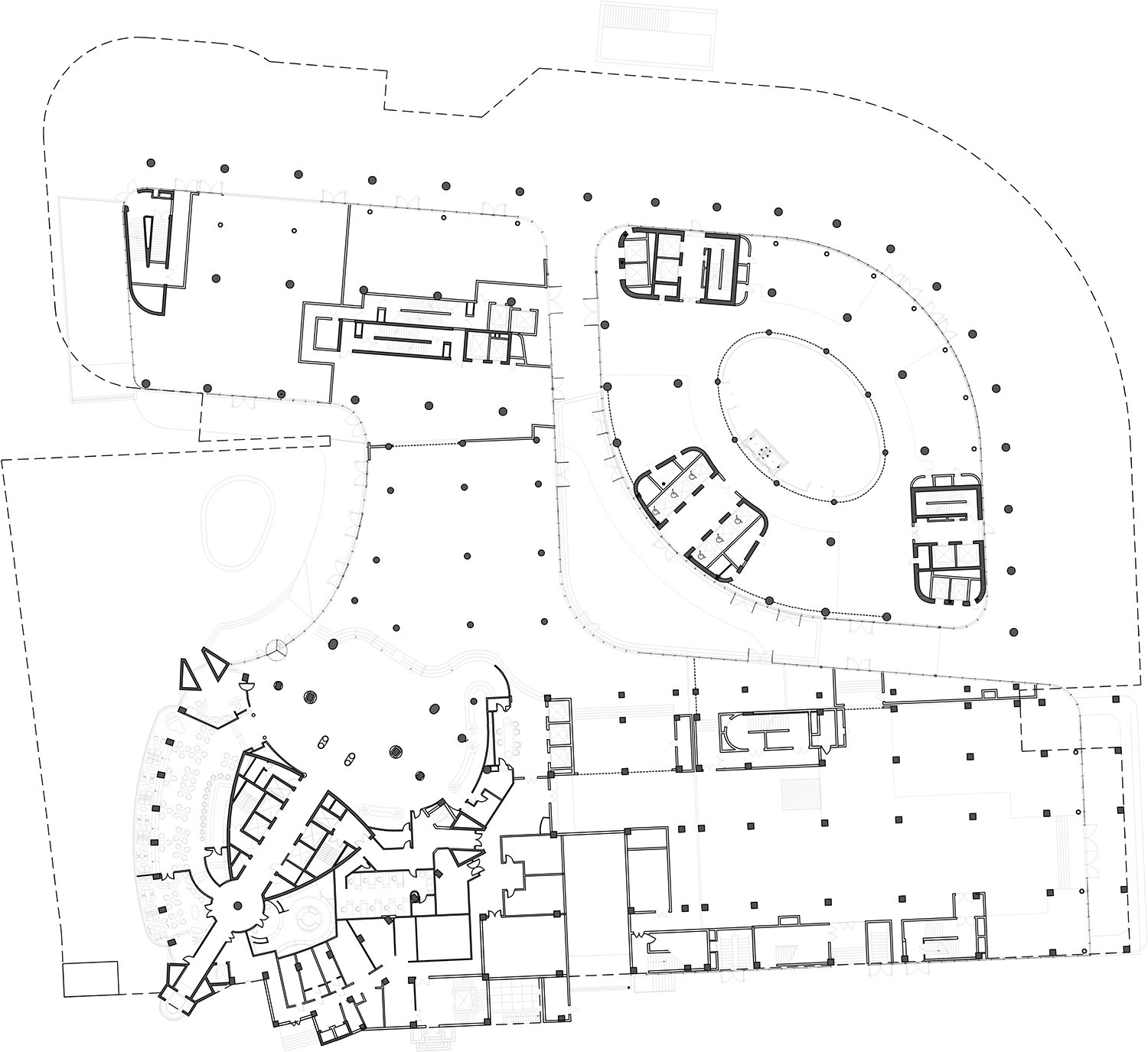 First floor Plan The Architectural Design & Research Institute of Zhejiang University; Architects von Gerkan, Marg and Partners (gmp)}