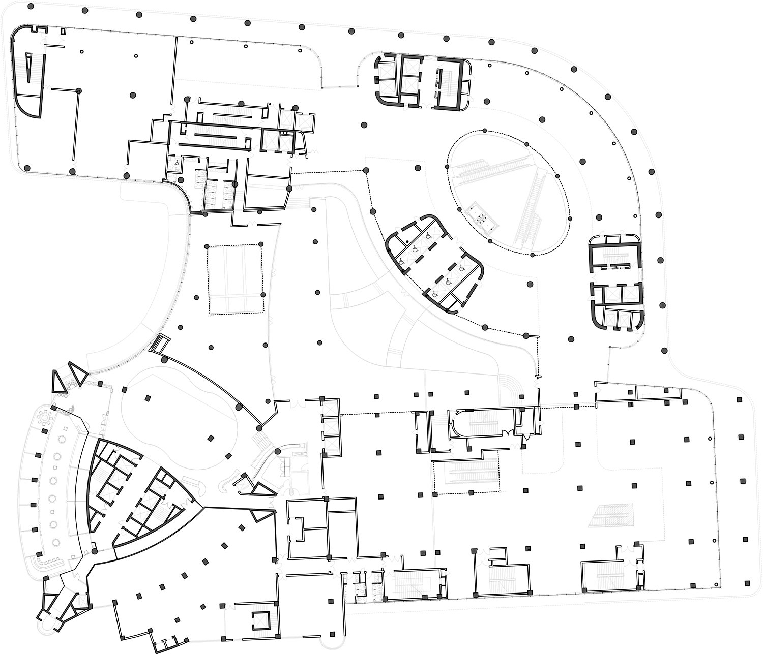 Second Floor Plan The Architectural Design & Research Institute of Zhejiang University; Architects von Gerkan, Marg and Partners (gmp)}