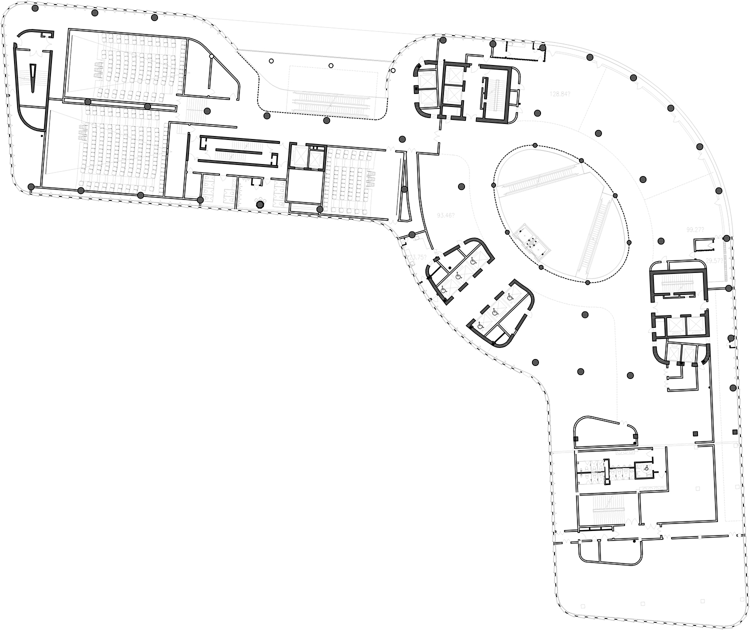 8th Floor plan The Architectural Design & Research Institute of Zhejiang University; Architects von Gerkan, Marg and Partners (gmp)}