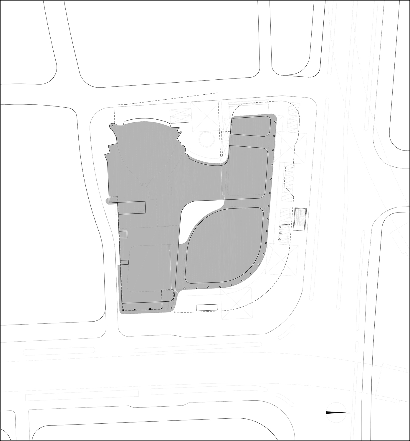 Line of Site Plan The Architectural Design & Research Institute of Zhejiang University; Architects von Gerkan, Marg and Partners (gmp)}