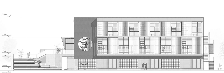 West Elevation EDO Architects}
