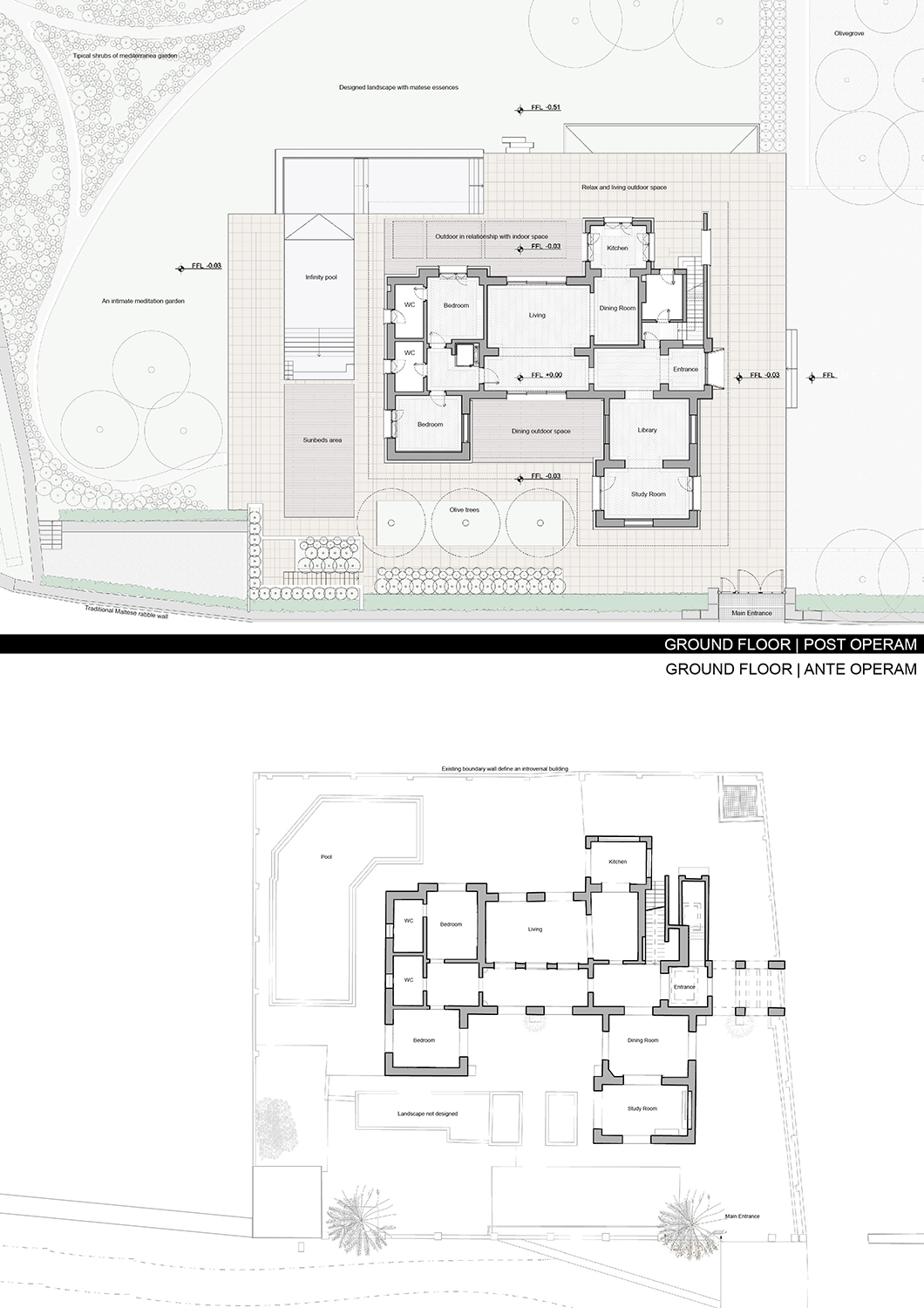 Floor Plans: Before and After PERALTA - design & consulting}