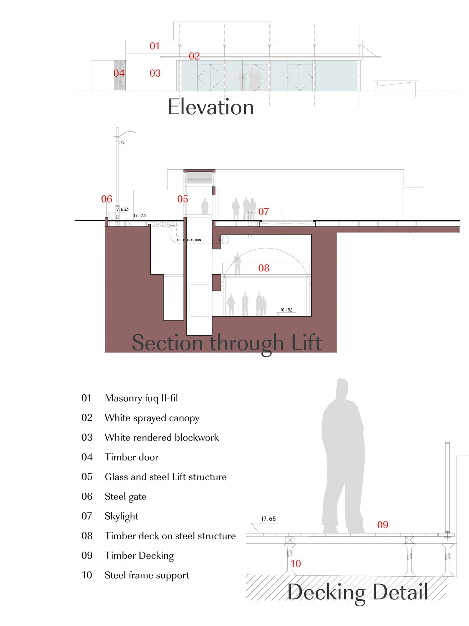 Elevation and Detail Edwin Mintoff Architects}