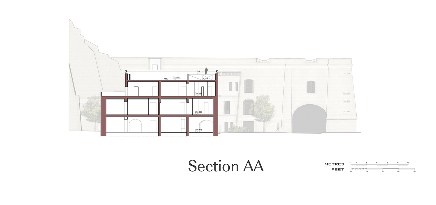 Section AA Edwin Mintoff Architects}