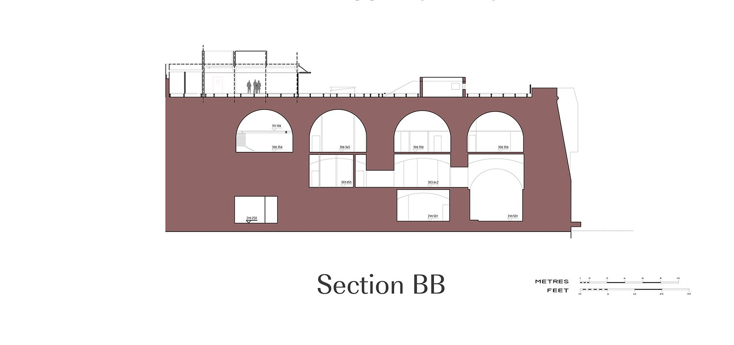 Section BB Edwin Mintoff Architects}