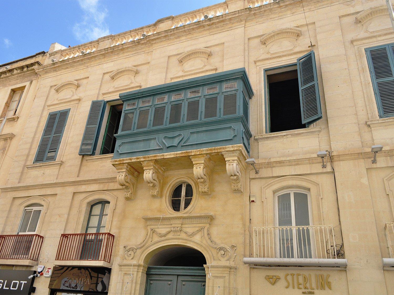 Domus Zamittello Facade post restoration Edwin Mintoff Architects