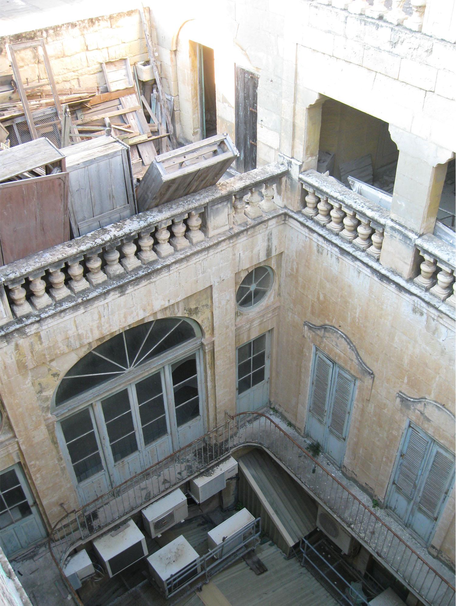 Domus Zamittello Interior prior to restoration Edwin Mintoff Architects