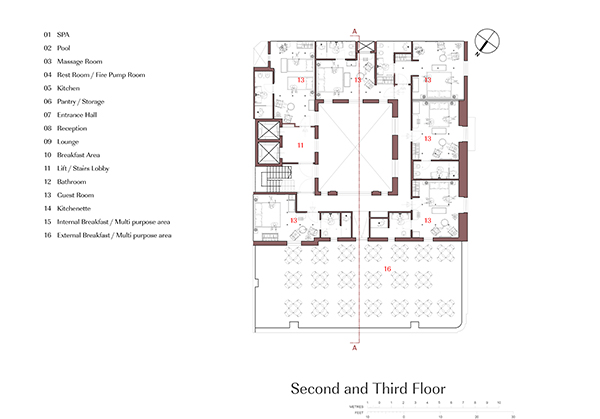 Second and Third Floor Plan Edwin Mintoff Architects}