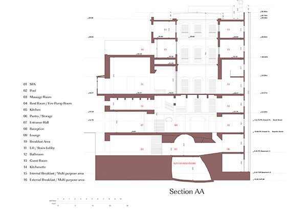 Section A-A Edwin Mintoff Architects}