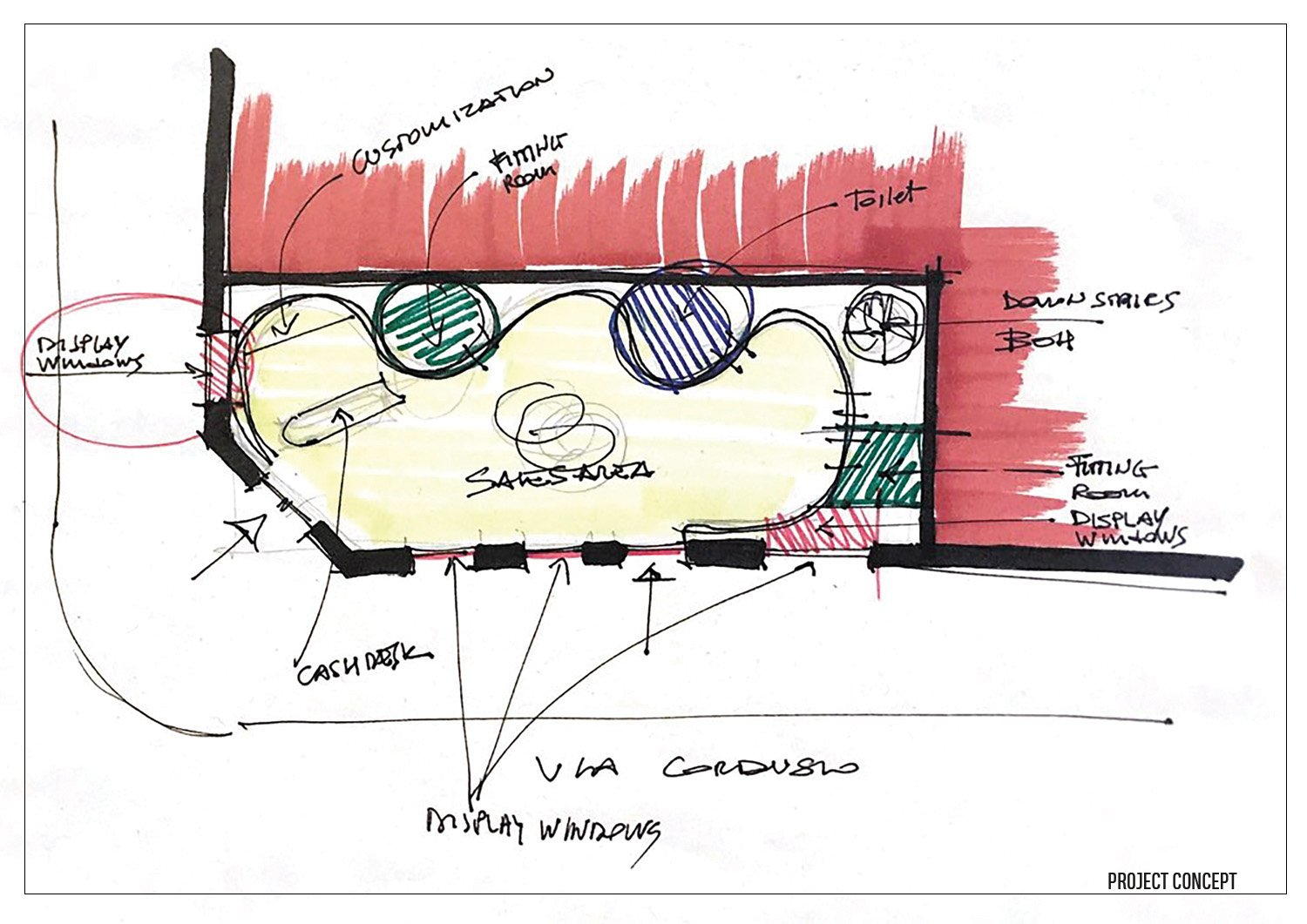 Concept Layout Arch. Tommaso Zanini / d+d Group}