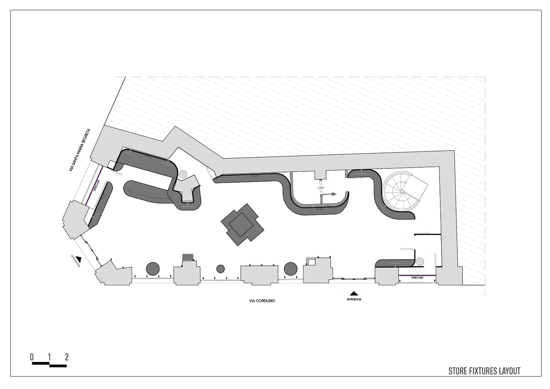 Plan - Store layout Arch. Tommaso Zanini / d+d Group}