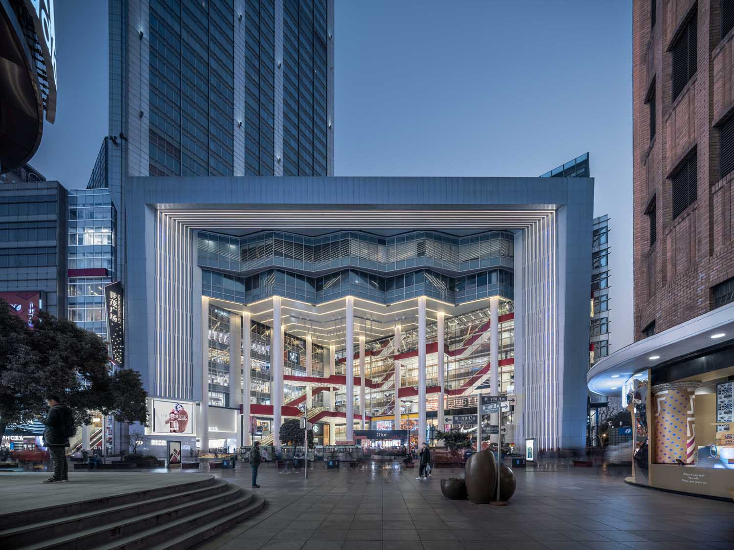 Front Elevation Night View Qingshan Wu