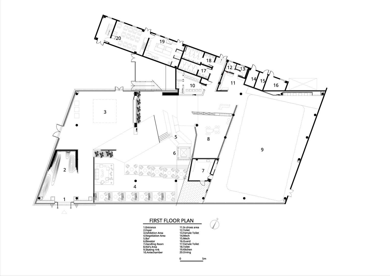 First floor plan Atelier Alter Architects}