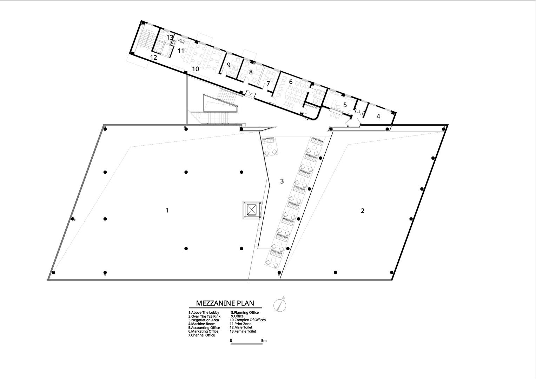 Mezzanine plan Atelier Alter Architects}