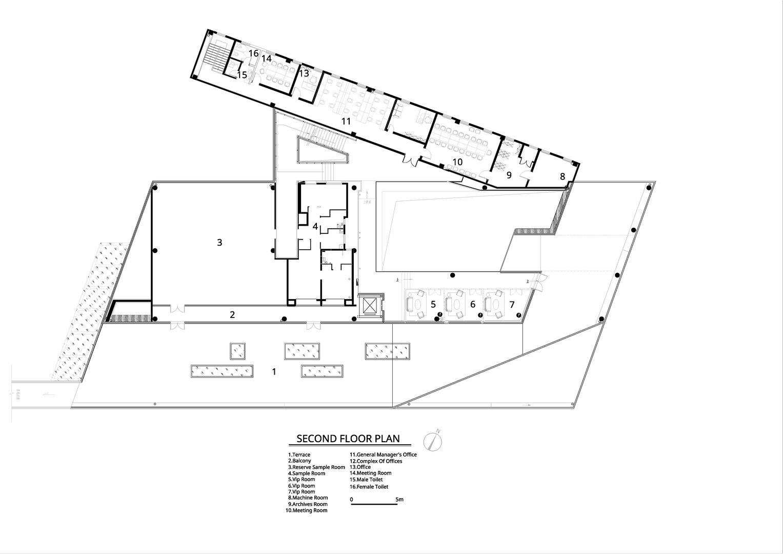 Second floor plan Atelier Alter Architects}