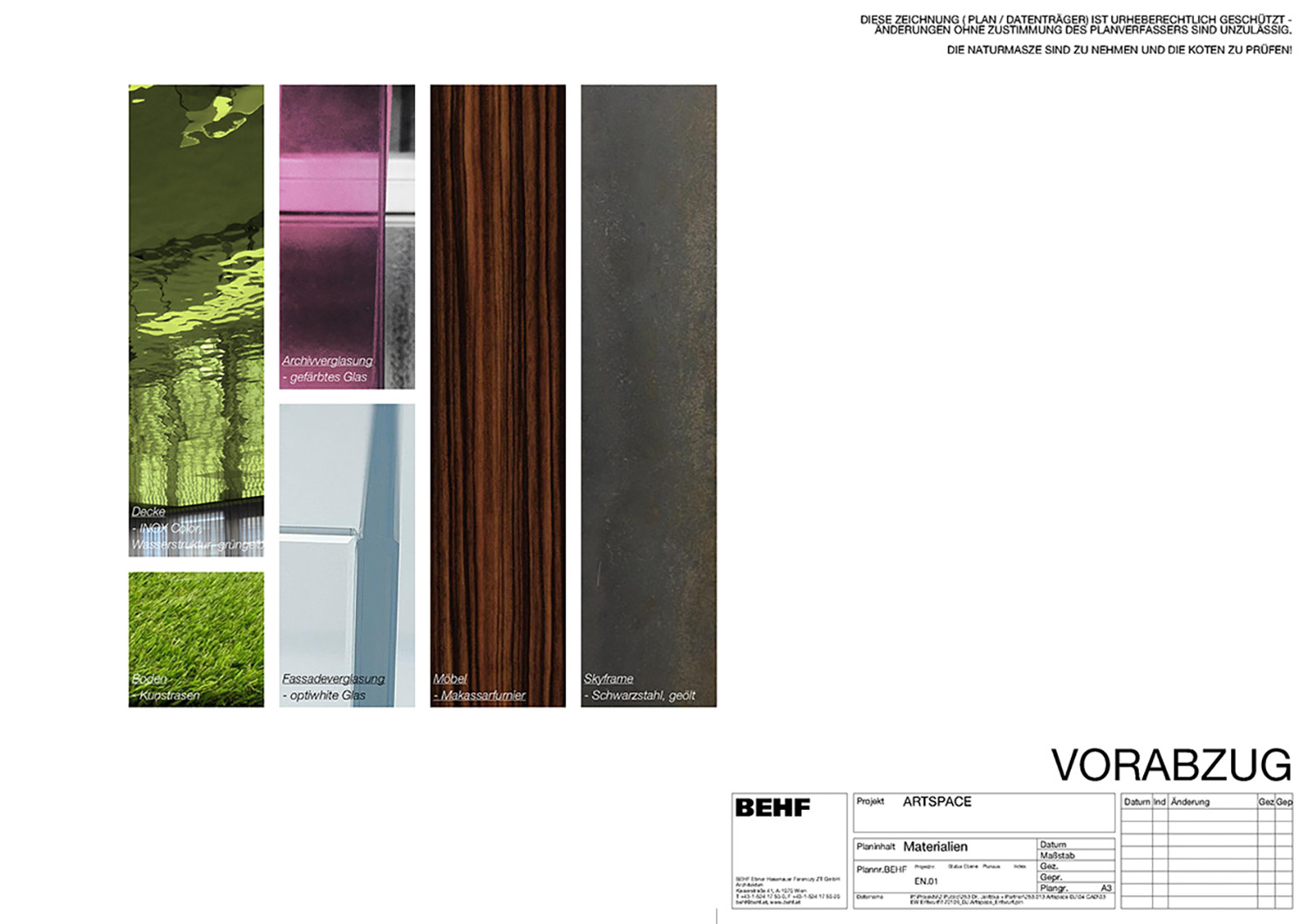 ARTSPACE material concept 2 BEHF Architects}