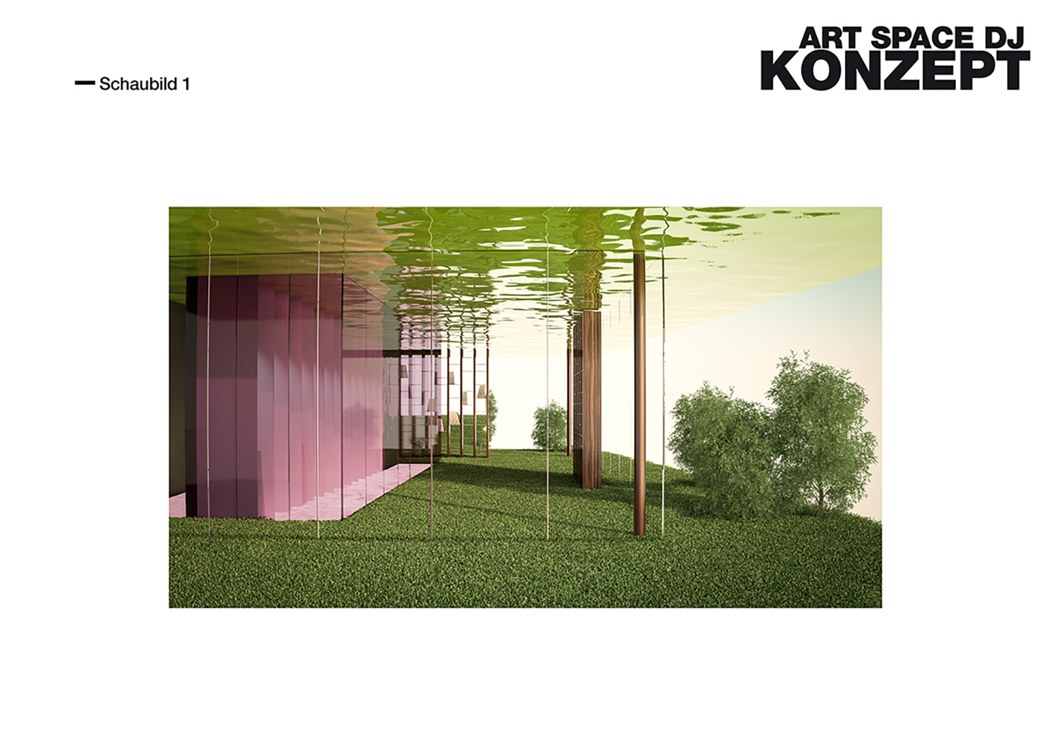 ARTSPACE Visualisation - box in pink BEHF Architects}