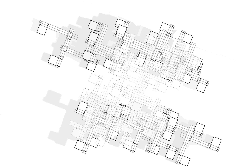 Groundfloor plan of the installation Plasma Studio}