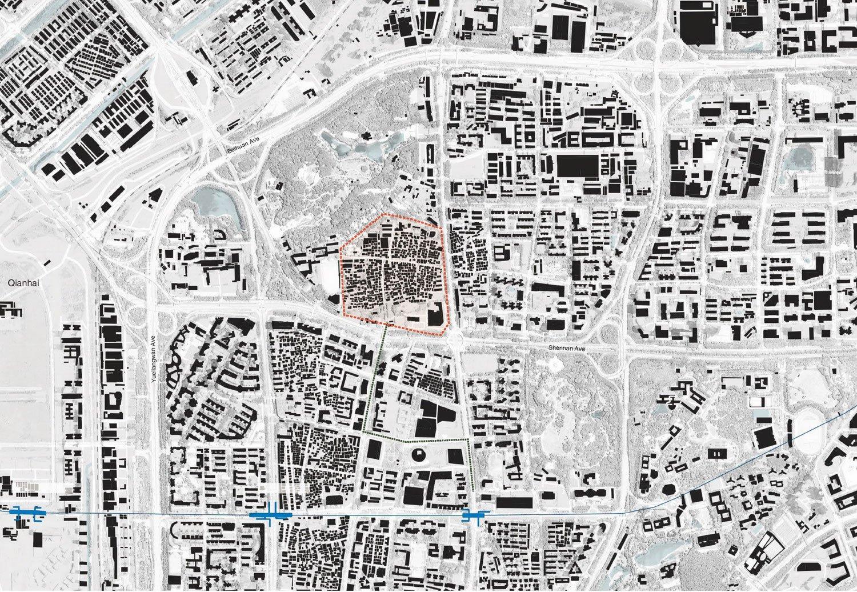 Site Map of Nantou Old Town ©URBANUS}