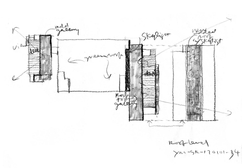 A Factory Zone_Sketch of Exhibition Venue 01 ©URBANUS}