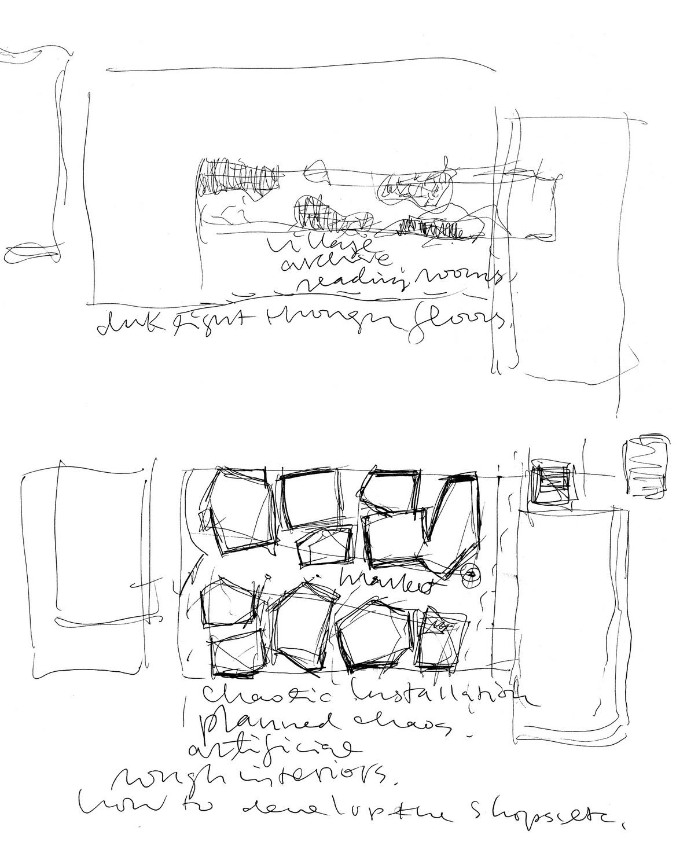 A Factory Zone_Sketch of Exhibition Venue 02 ©URBANUS}