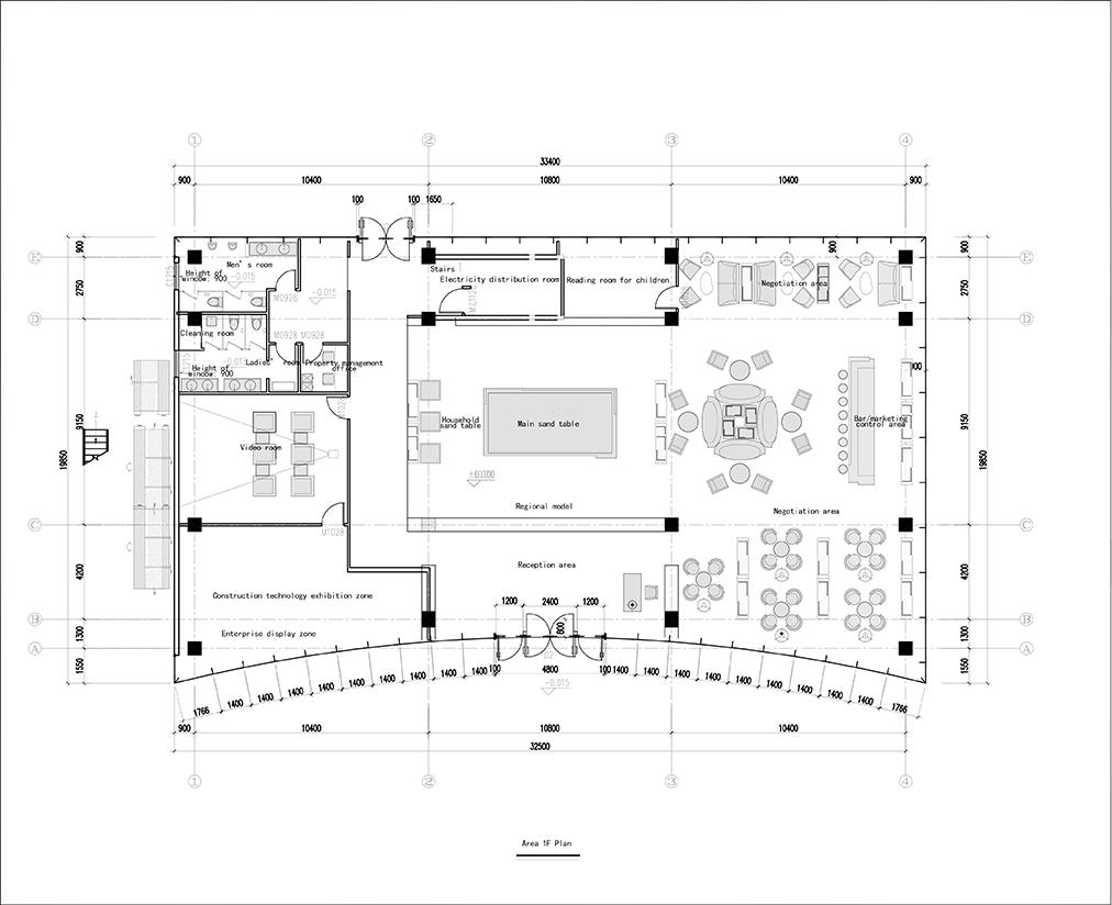 Demonstration Area 1F Plan Dotint}