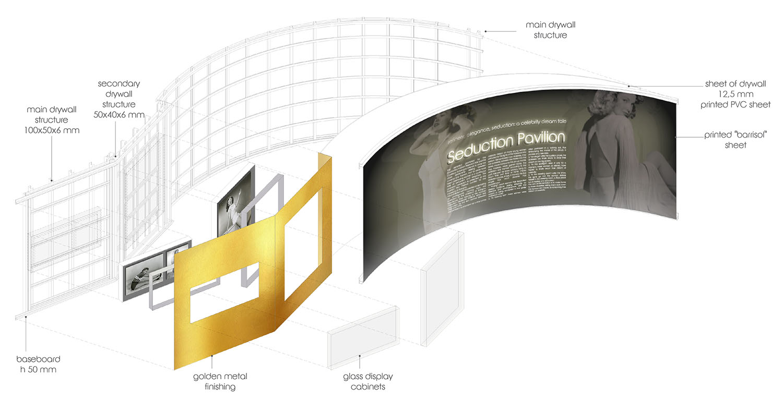 Barrisol wall axonometry Contact Studio}