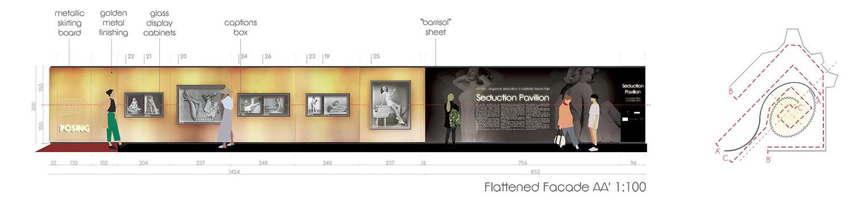 Flattened facade AA' 1:100 Contact Studio}