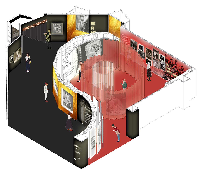 Project axonometry Contact Studio