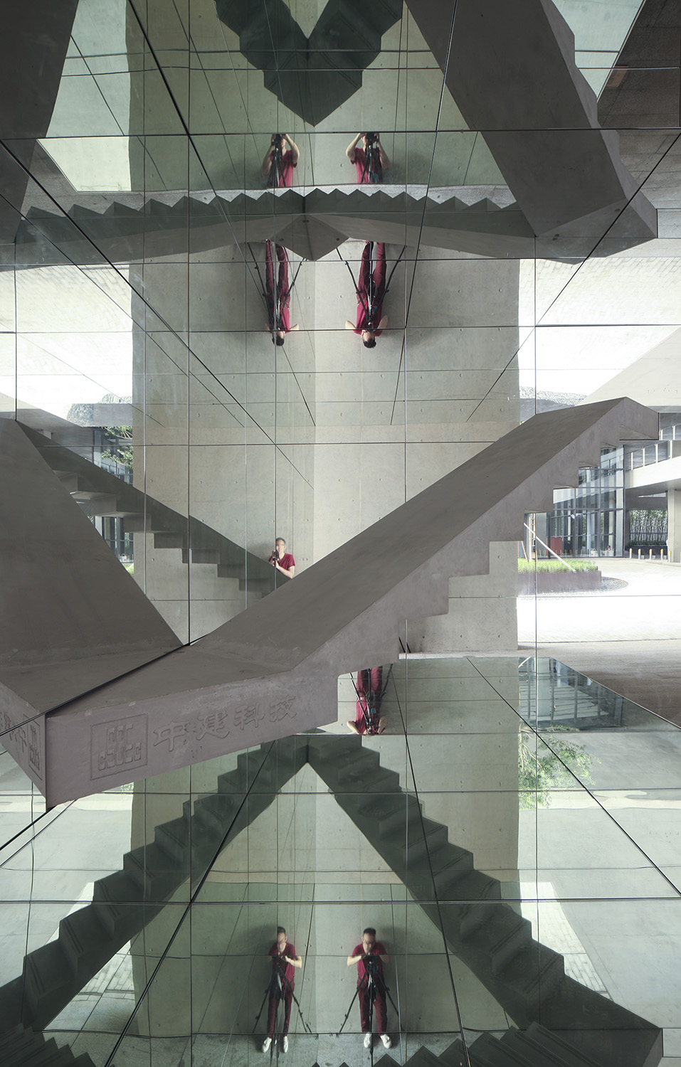 staircase and its reflection DONG Hao
