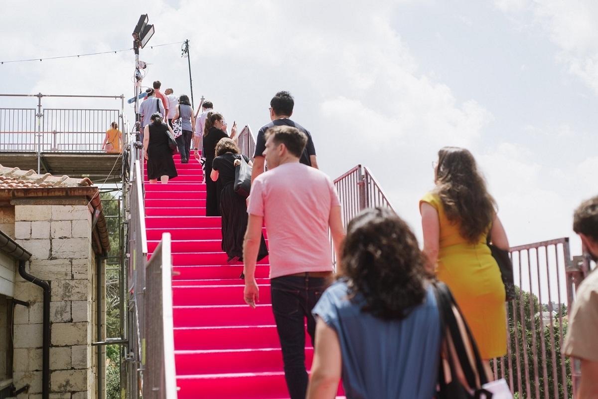 90 Degrees - HQ-Architects - Jerusalem Design Week - Stairs © Dor Kedmi