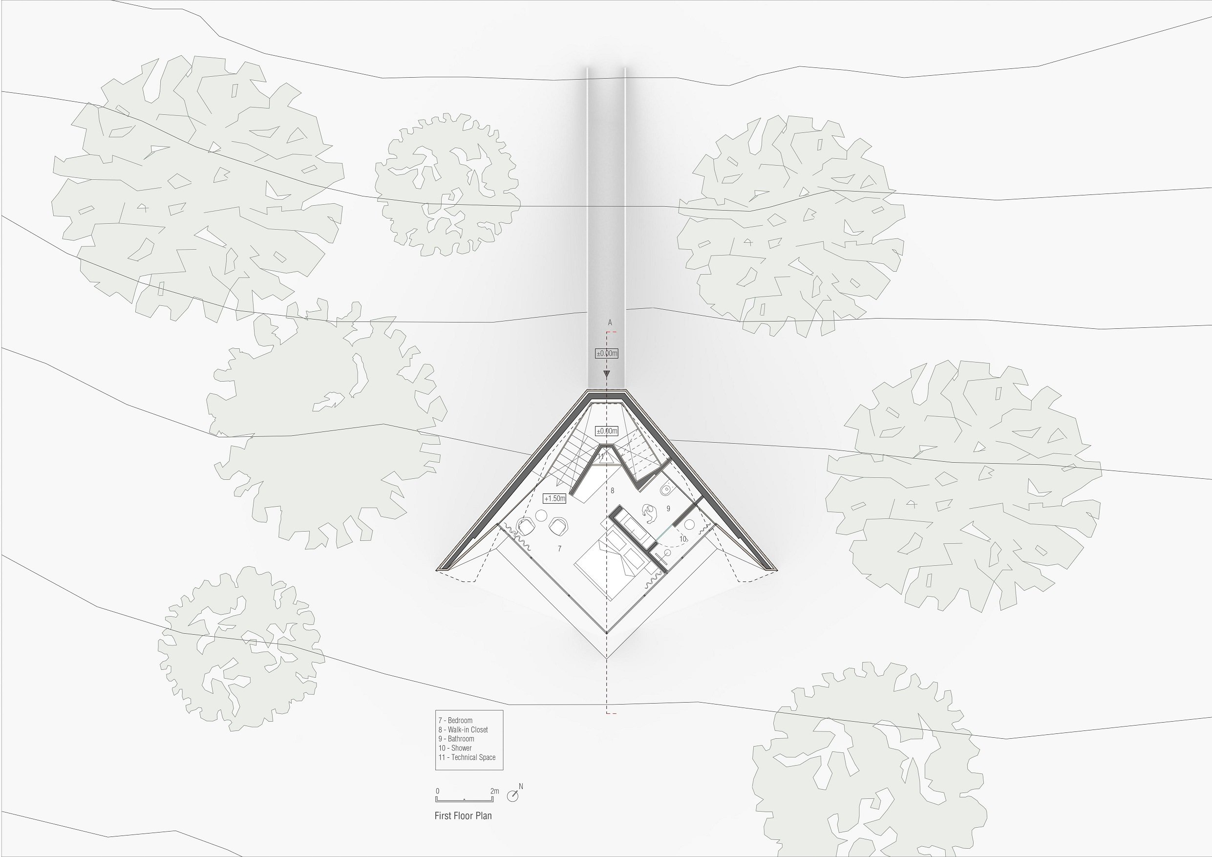 First floor plan Peter Pichler Architecture}