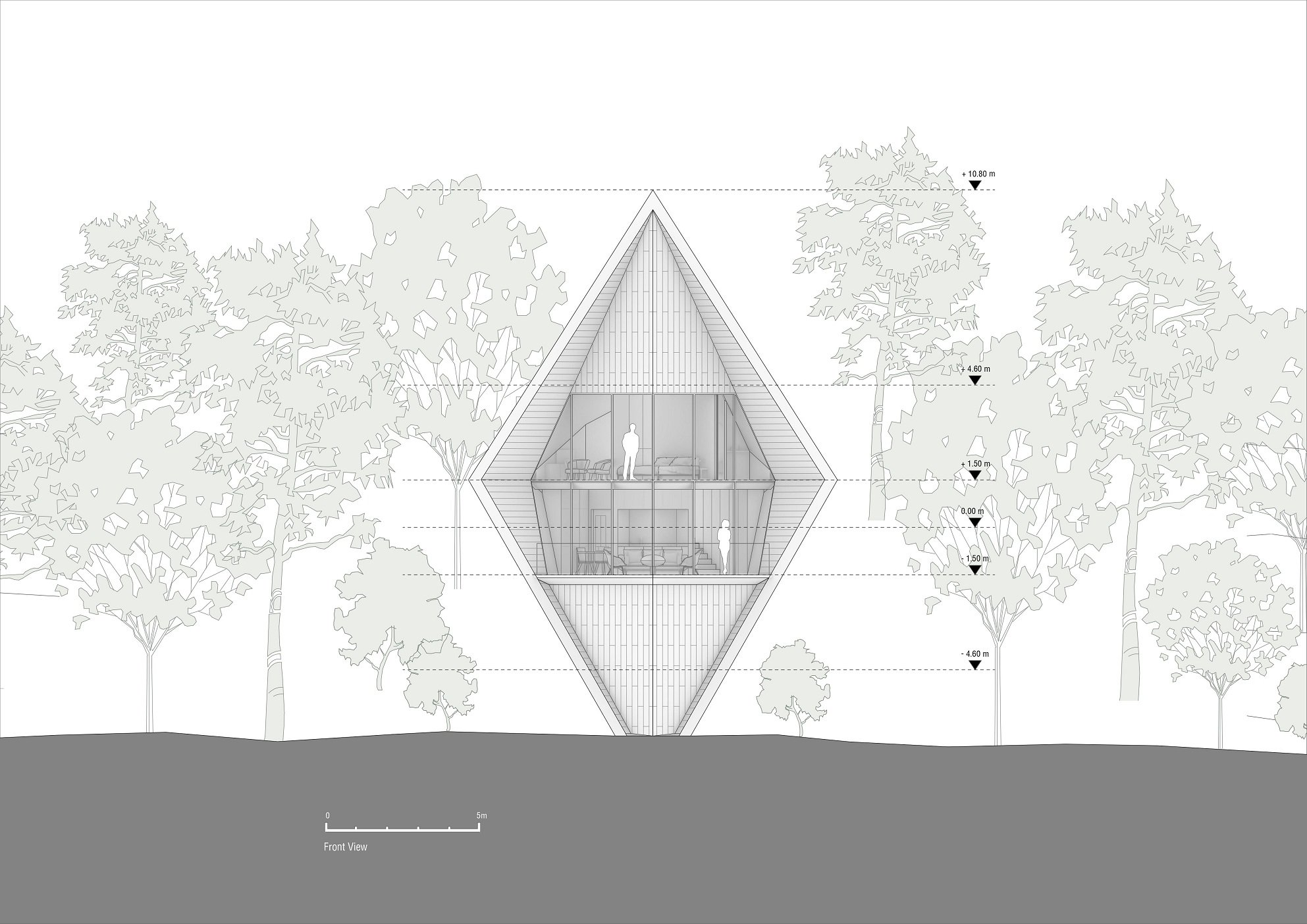 Front view Peter Pichler Architecture}