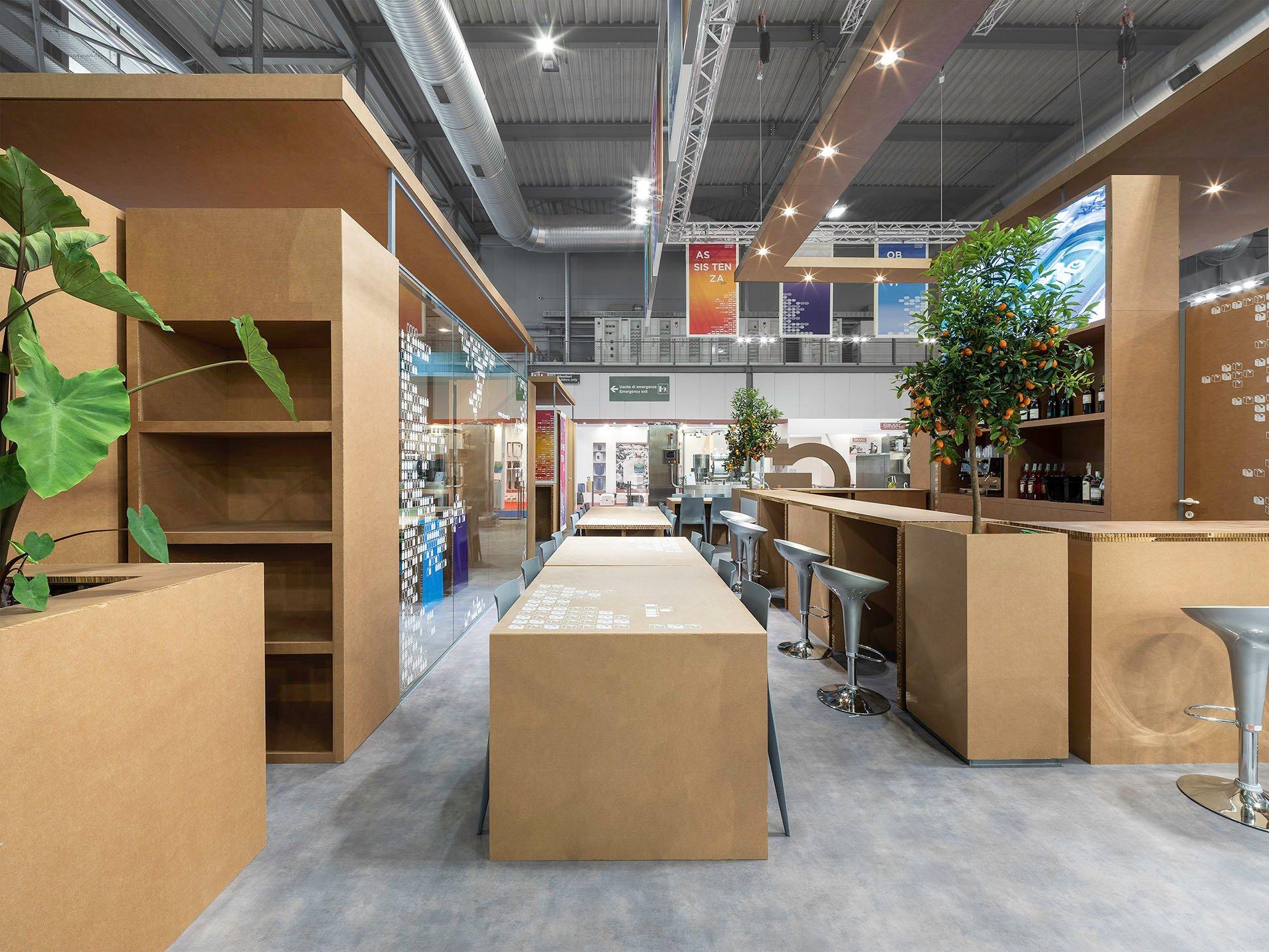 Detail_Chatting Space - Cardboard Tables filippo poli