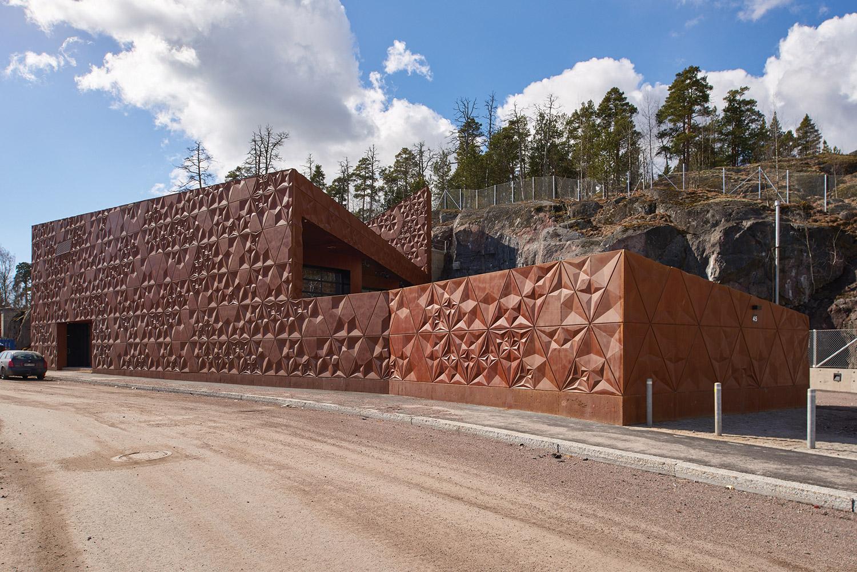 Construction phase, station finished B & M Architects / Timo Kiukkola}