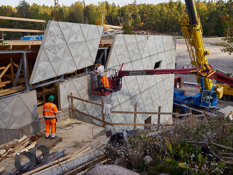 Construction phase, elements B & M Architects / Timo Kiukkola}
